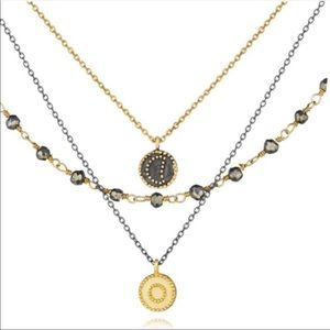 Satya Gunmetal and Gold Celestial Necklace